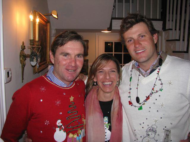 True Prospect Family: Phillip, Amy and Boyd attend a 2011 ugly sweater  holiday party. (Photo courtesy of Amy)