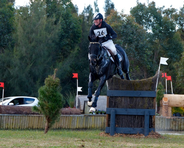 Tim Boland & GV Billy Elliot, overnight leaders but unfortunately a stop on XC