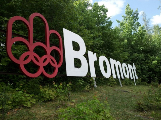 The beautiful Bromont sign. Photo via EN Archives.