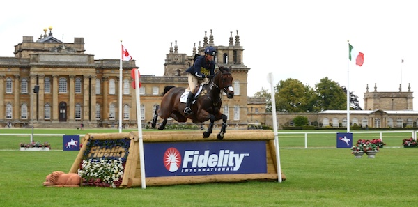 Piggy French & 'DHI Topper W' at Blenheim in 2011. The horse has since been campaigned by Paul Burgess and Bubby Upton. Image by ESJ Photo.