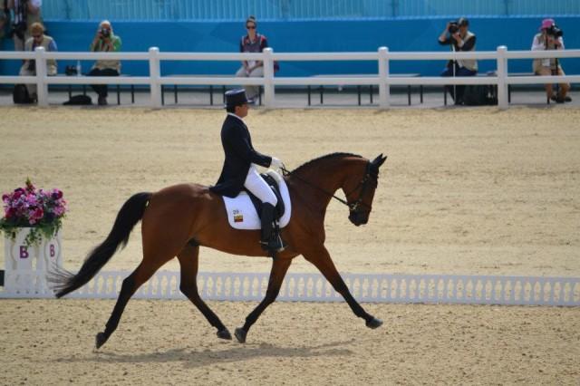Ronald Zabala-Goetschel and Master Rose at the London Olympics. Photo by Lee Lee Jones.