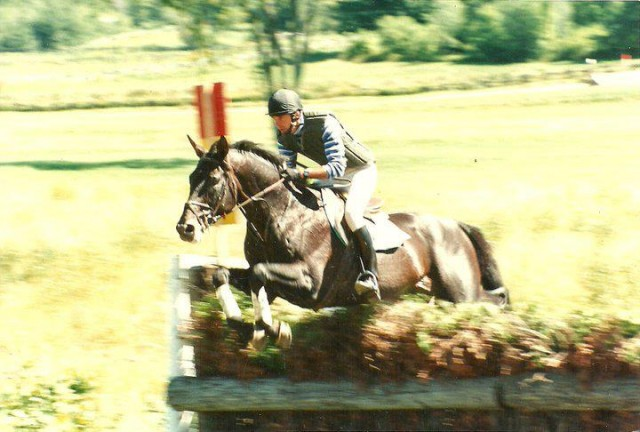 Denny Emerson and Epic Win tackle  steeplechase at Bromont, via Denny's Facebook.