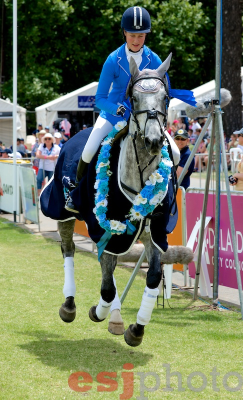 Jaimie Stichel & Image Blue Ice winners of the Dublin National Young Rider Championship 2012
