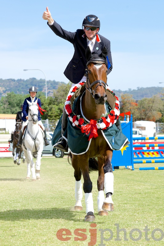 Craig Barrett and Sandhills Brillaire Champions of the 2012 Australian International Three Day Event
