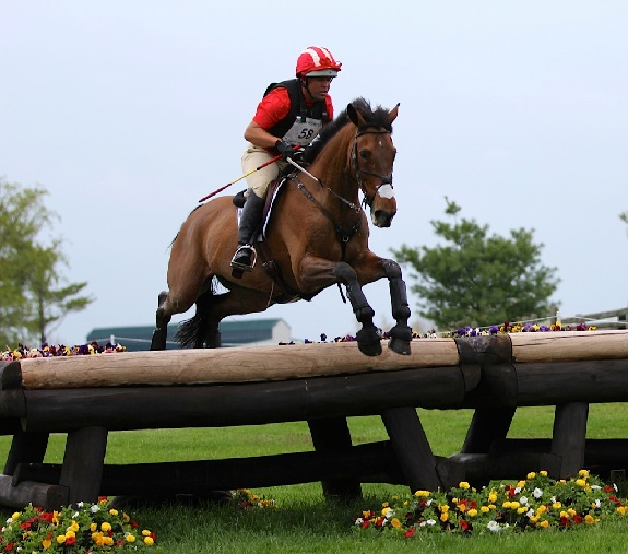 Buck Davidson and Balleynoe Castle RM at Rolex. Photo by Kasey Mueller.