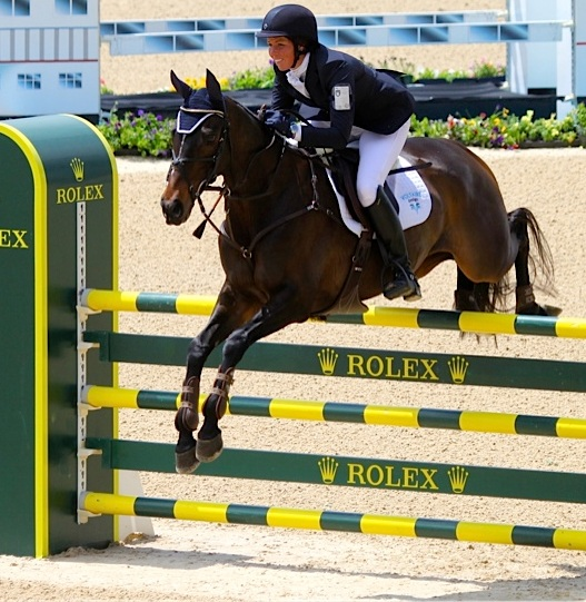 Meghan O'Donoghue and Pirate at Rolex in 2013.  Photo by Kasey Mueller.