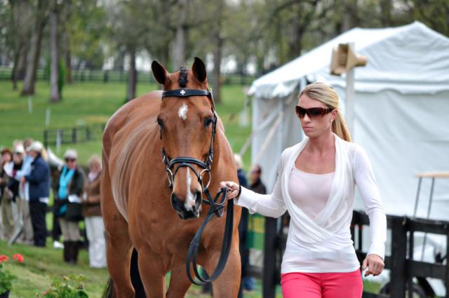 Kristin Schmolze and Ballylaffin Bracken at Rolex last year. Photo by Jenni Autry.