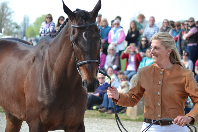 Tina Cook and Miners Frolic at Badminton last year. Photo by Jenni Autry.