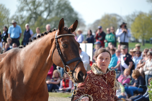 Lucy Wiegersma and Simon Porloe, now ridden by her husband Padraig McCarthy. Photo by EN.