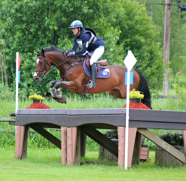 Lauren Kieffer & Cosima, winners of Prelim C at Jersey.  Shown here at Bromont 2013. (photo by Samantha Clark)