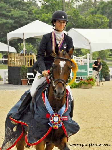 NAJYRC CH-Y** bronze medallist Jenny Caras and Fernhill Stowaway. Photo coutesy of Ivegotyourpicture.com.