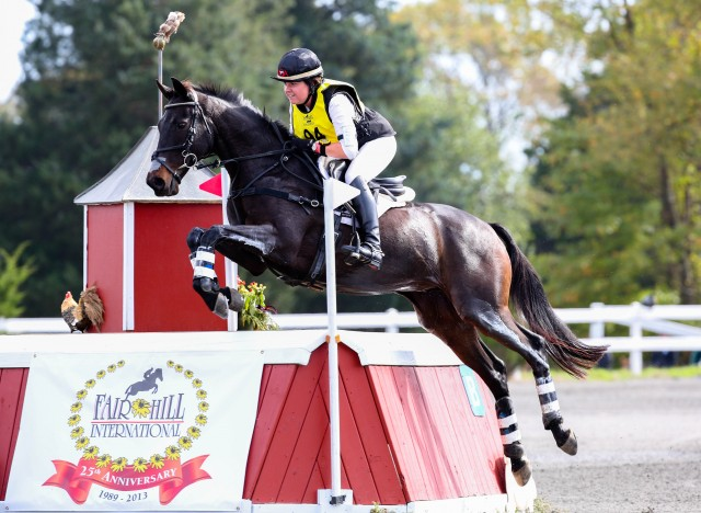 Libby Head and Sir Rockstar at Fair Hill CCI3* in 2013. Photo by Alec Thayer.