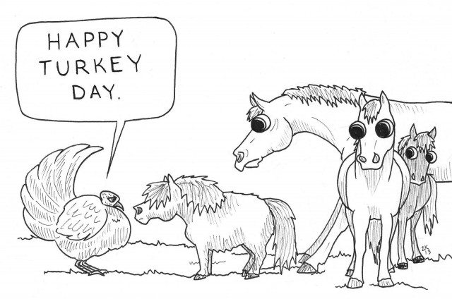 Happy Thanksgiving! Illustration by Lindsey Kahn.