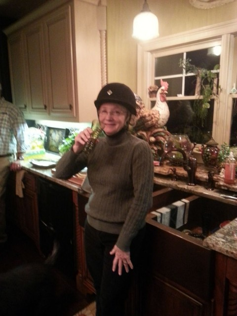 Aunt Vicki gets geared up