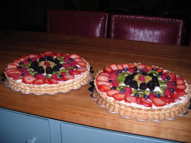 My mom's famous lemon and berry tarts!