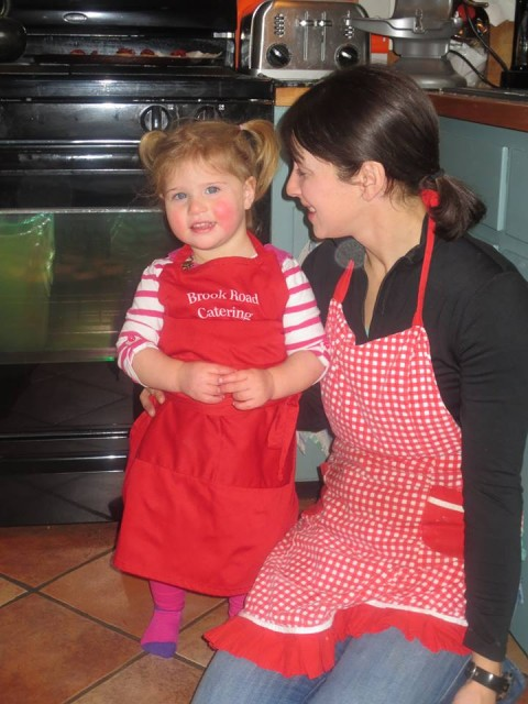 My niece and I baking cookies at my mom's house! (photo taken by Anya Gendal)