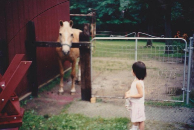 I caught the bug early. This photo also explains my early love for palominos.