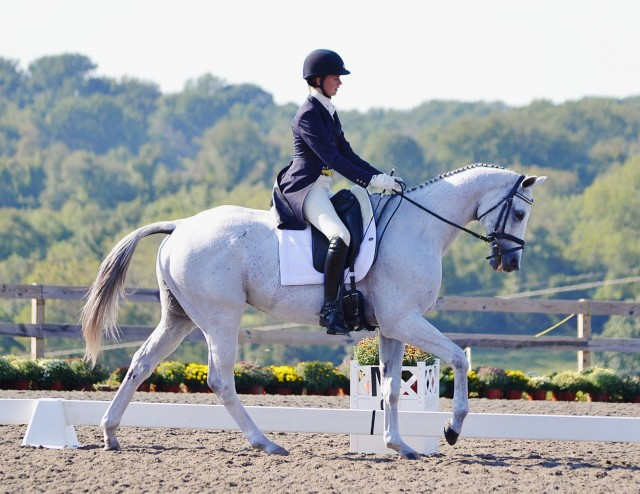 Caroline Martin, shown here with Titanium at Plantation Field, was one of the riders participating in the Eventing 18/Advancing Athletes training sessions. Photo by Jenni Autry.