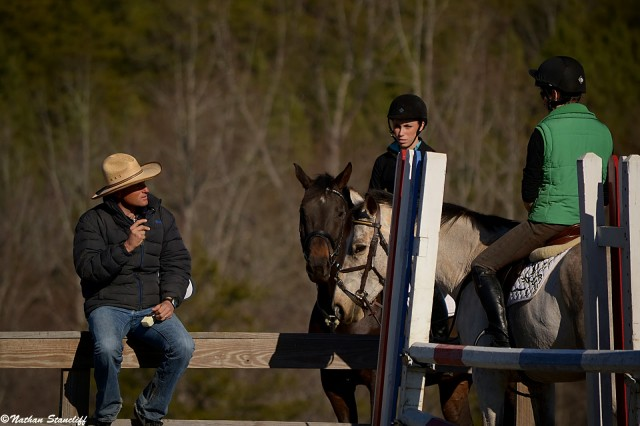 Boyd Martin teaches at Eric Dierks' Renovatio Farm. Photo by Nathan.