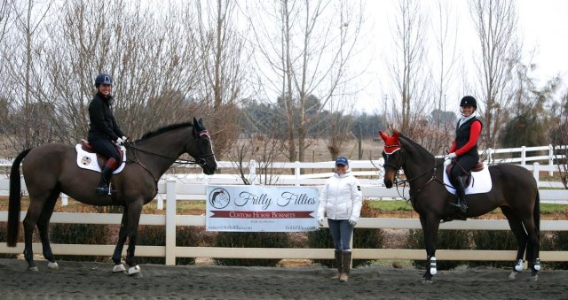 Hawley, Jen and Caroline on Day 1 of the clinic at Dragonfire. Photo courtesy of Dragonfire Farm.