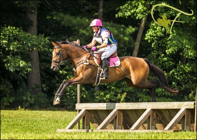 Julie Howard and her Thoroughbred mare Sweetie. Photo via Joan Davis/Flatlandsfoto.