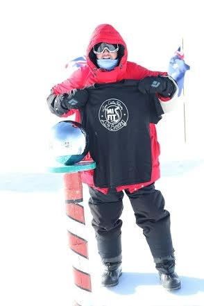 Paul Swart at the South Pole
