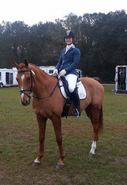 Leah and Of Course Carter at the Ocala Horse Properties Horse Trials. Photo via LLG Eventing's Facebook.