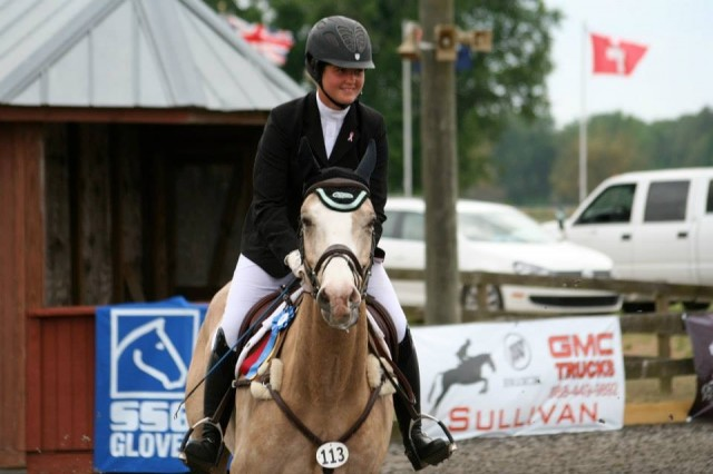 Hanna and D'Jion celebrating at the CCI* at Ocala. Photo from Hanna Bundy.
