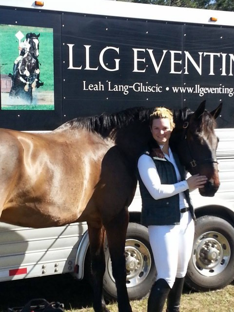 Leah and A Novel Romance (Pogo) at the Ocala Horse Properties HT. Photo via LLG Eventing's Facebook page.