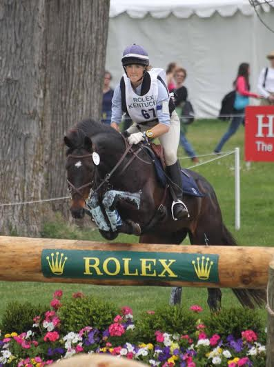 Tara Ziegler and Buckingham Place into the water at Rolex. Photo by Mike McNally.