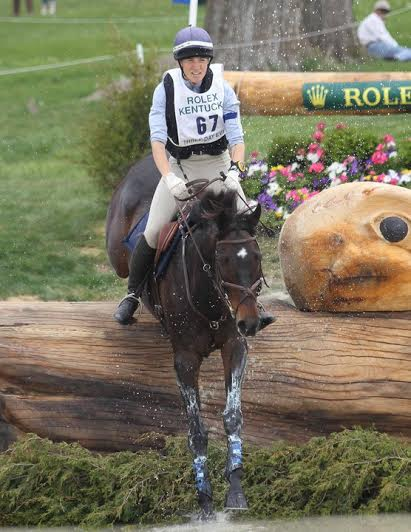 Tara and Buck through the water at Rolex. Photo by Mike McNally.