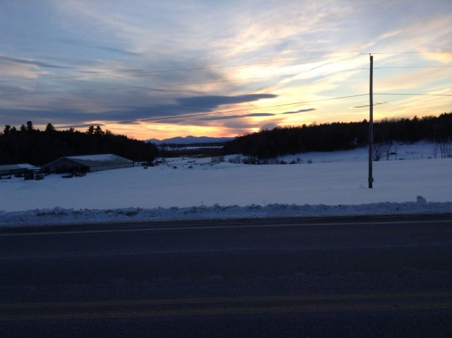 Stopping on my way home from Shelburne VT to catch the view!