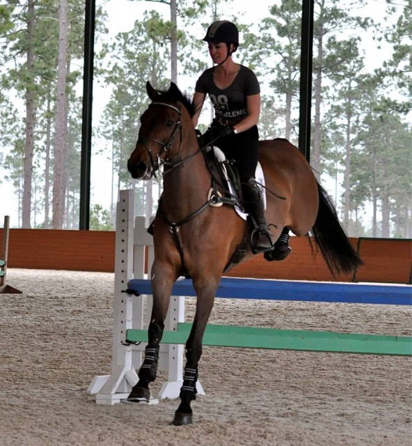 Nyls schooling in a lesson with Kim Severson at Stable View Farm. Photo by Carrie Meehan.