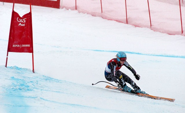 Olympian Julia Mancuso skis in the 2007 World Cup. Photo by Arthur Mouratidis via Wikimedia Commons.