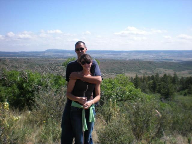 Awww, happy(?) couple in Colorado Springs last summer