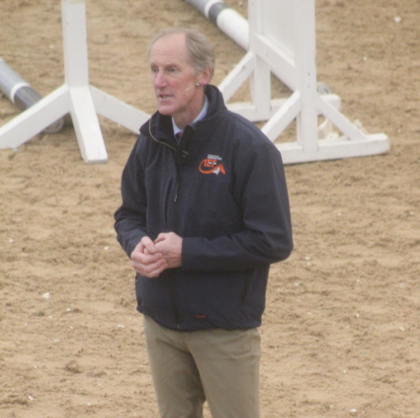 Eric Smiley teaches at the International Eventing Forum. Photo by Samantha Clark for PRO.