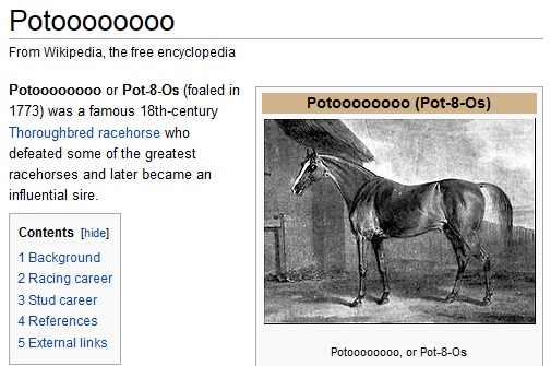 This hilarious screenshot was brought to you by Wikipedia