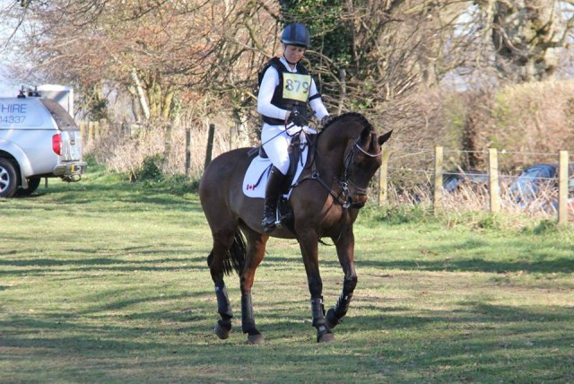 Rebecca and a very keen Rupert at Aldon. Doesn't he look fantastic? Photo courtesy Uptown Eventing.