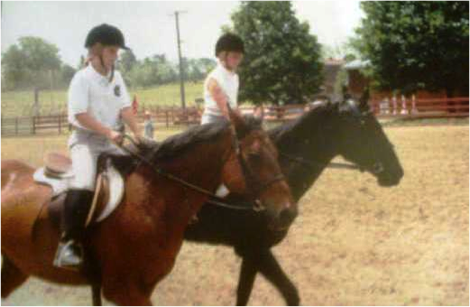 Kendal and Chelsea at a fun show in Uxbridge, Ontario.