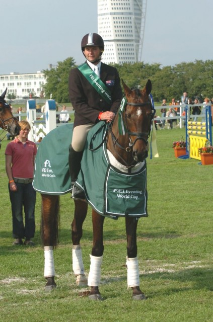 Ben Along Time at the World Cup Final in Malmo, 2005. Photo courtesy Irish Horse Gateway