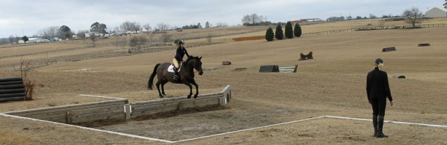 Brittany schooling in Aiken with Momo  Laframboise. Photo by Emma Green.