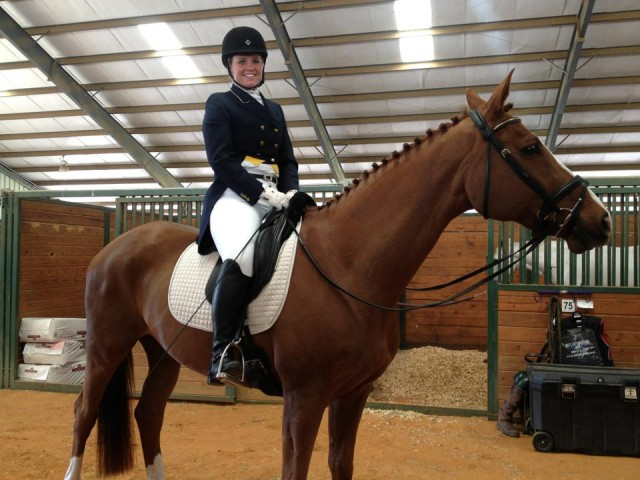 Julie Norman and Consensus at Texas Rose Horse Park. Photo by Ashley Hays.