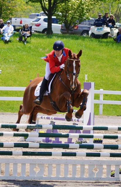 Riesling de Buissy on their way to a second place finish in the CCI2* at Jersey Fresh in 2013. Photo by Jenni Autry.
