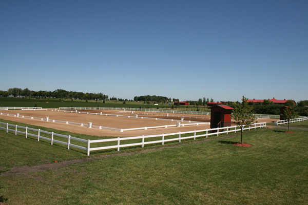 Dressage rings at Schweiss Stables, home of Roebke's Run. Photo courtesy of Roebke's Run.