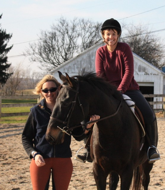 Mikey, with volunteer Laura Muncy and trainer Stefany Wolfe. Photo by Kelly Utter.