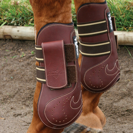 VENtech Leather Open Front Jumping Boots