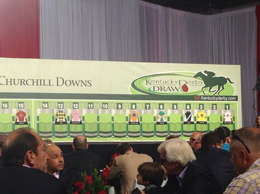 The official Draw for the Kentucky Derby this weekend!
