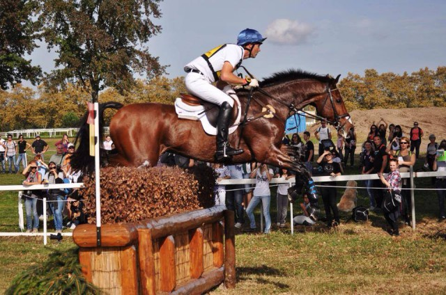 Clark Montgomery & Universe on their way to a double clear at Pau CCI4* in the fall. Photo by Kate Samuels.