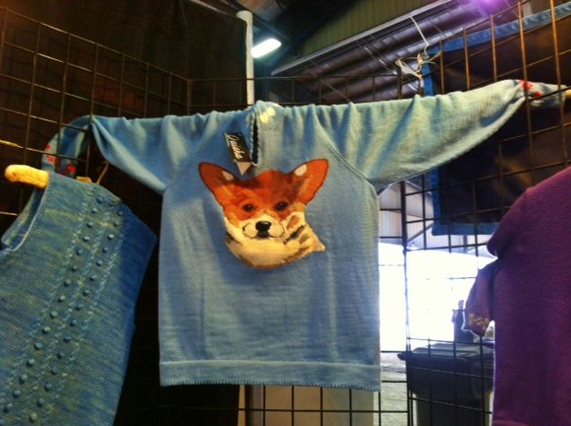 A sweater with a Corgi's face on it? Yes, please.