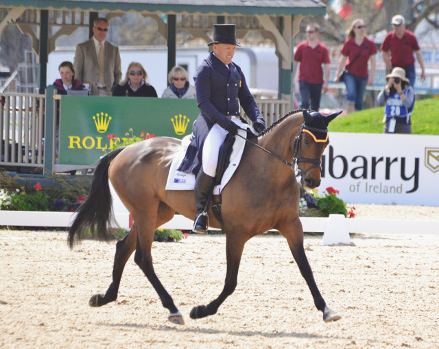 Buck Davidson and Petite Flower at Rolex. Photo by Jenni Autry.